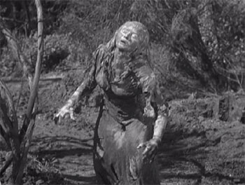 Princess Ananka (Virginia Christine) rises from her grave in the swamps of Louisiana Bayou country.