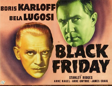 Poster for Black Friday, 1940