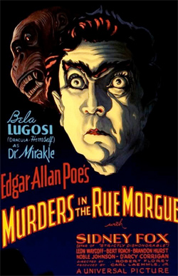 Poster for Universal's Murders in the Rue Morgue